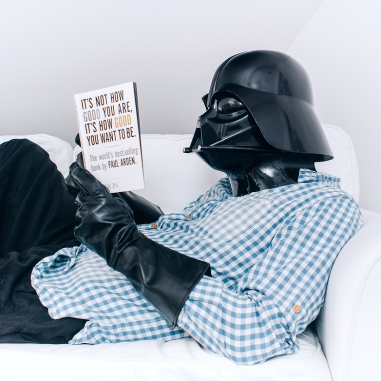 Vader Reads a Book