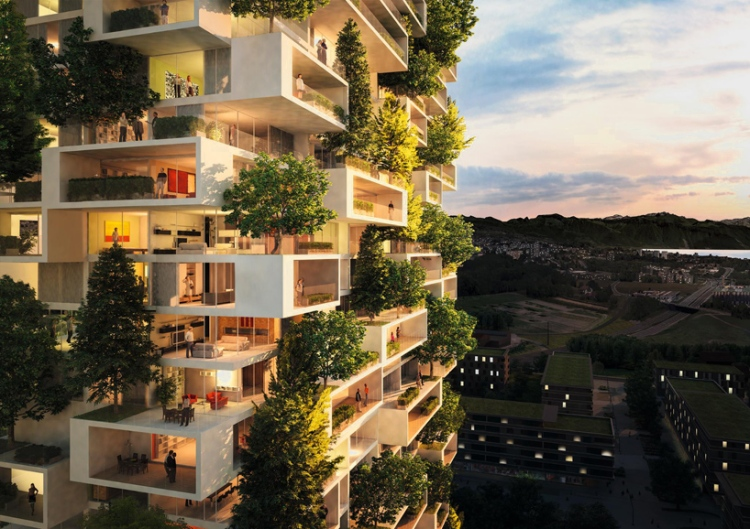 Vertical Forest With Residents