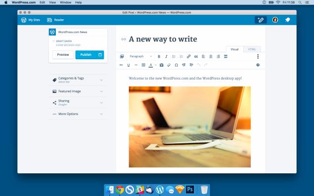 WordPress App Screenshot