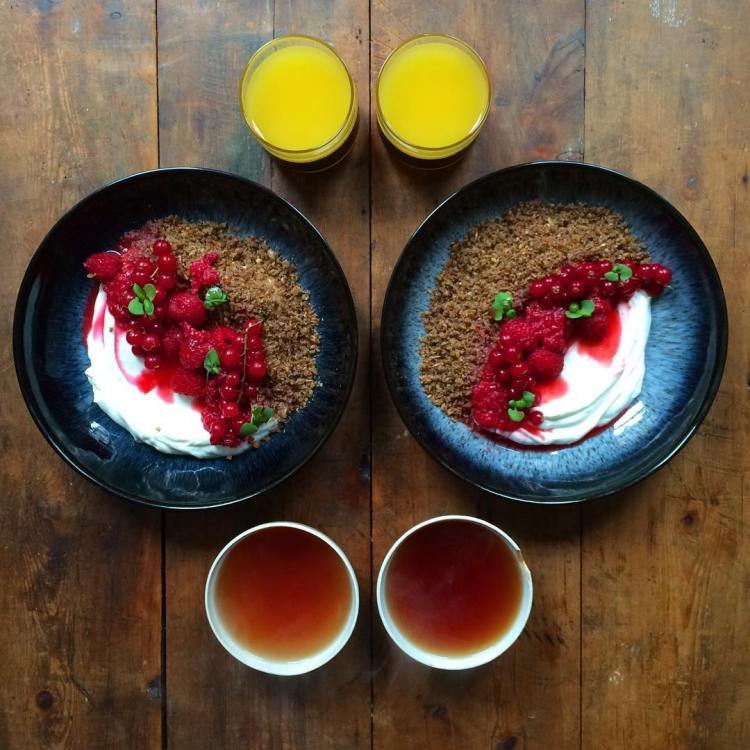 Ymerdrys with raspberries and Earl Grey
