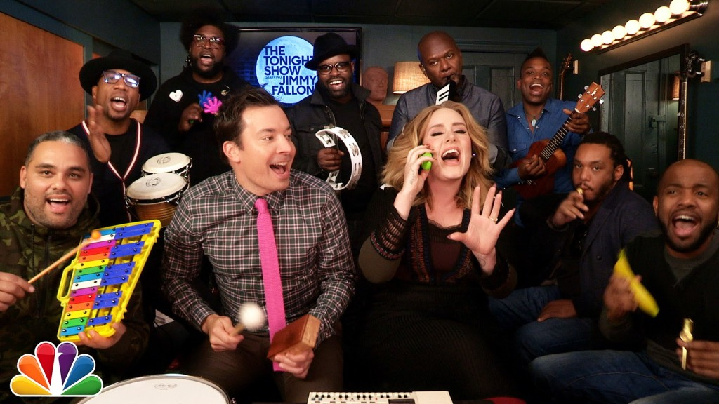 Adele Joins Jimmy Fallon & The Roots for a Classroom Instrument Version of Her Hit Song 'Hello'