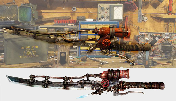 Fallout 4 Flaming Sword