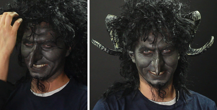 Krampus Makeup Tutorial