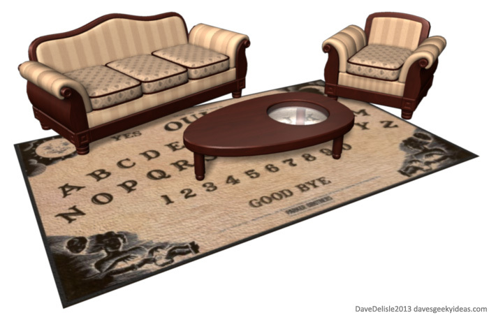 A Brilliant Conceptual Set That Features Ouija Board Rug