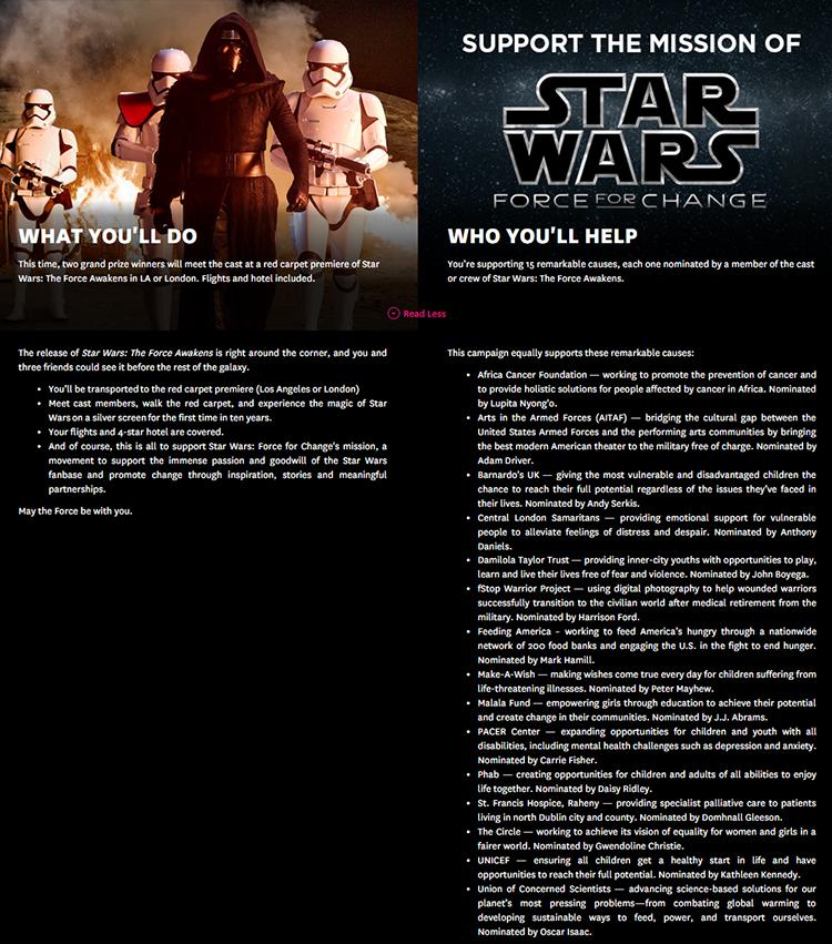 Star Wars Omaze