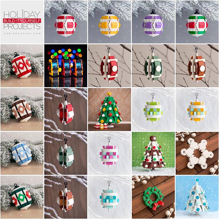 Custom Built LEGO Christmas Tree Ornaments by Chris McVeigh