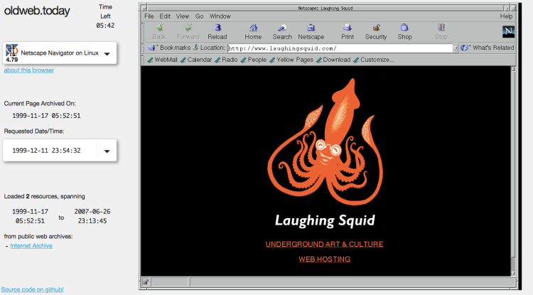 1999 Laughing Squid OldwebToday