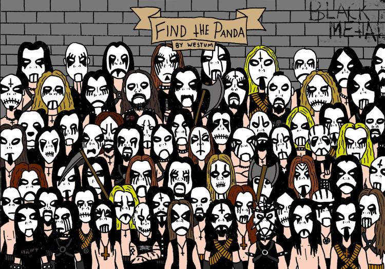 Find the Panda Black Metal