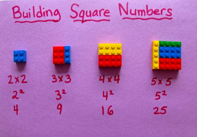 LEGO Building Square Numbers