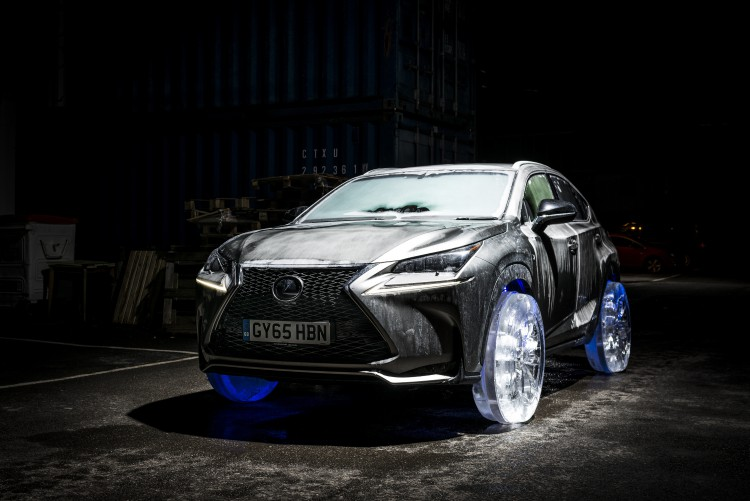 Lexus NX Frozen With Ice Wheels
