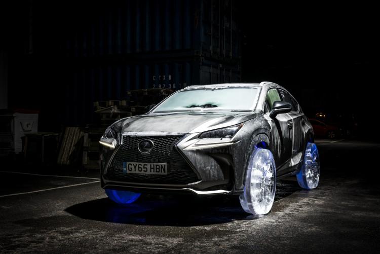 Lexus NX Frozen With Ice Wheels