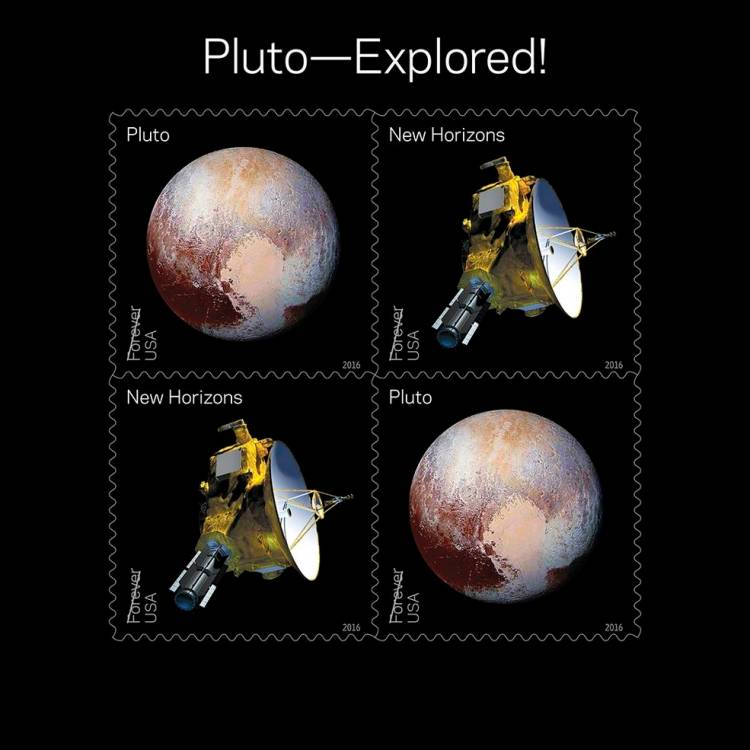 Pluto Explored Stamps