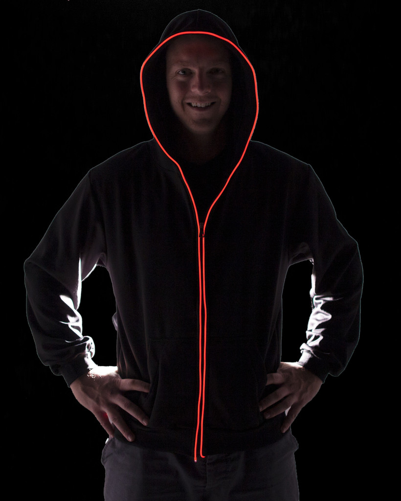 Innovative Hoodies Featuring Electroluminescent Wire Piping That ...