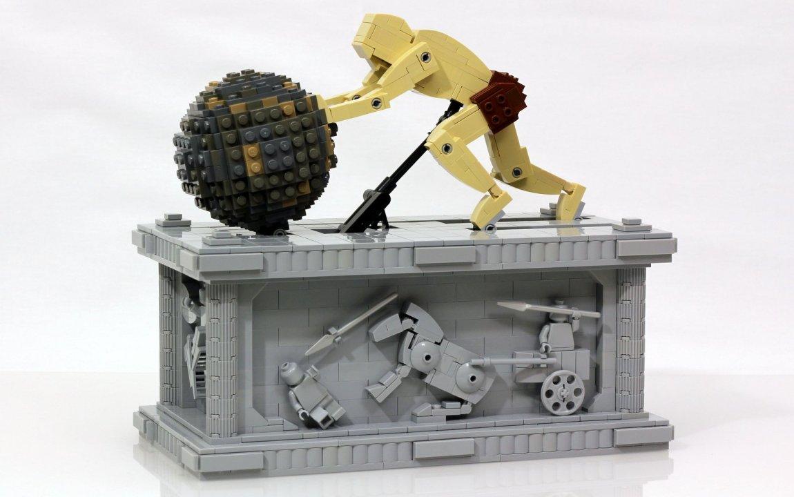 Sisyphus Sculpture