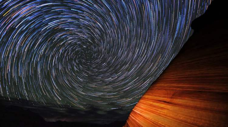 Skyglow Swirling Stars