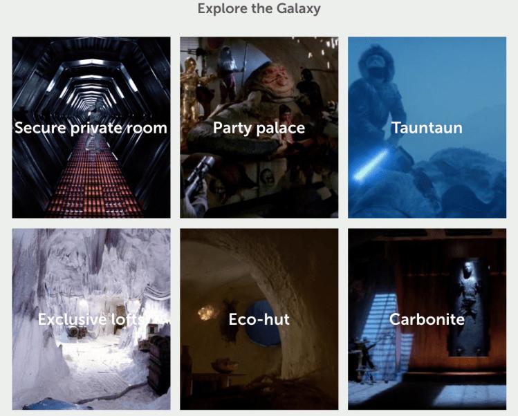Starbnb Locations