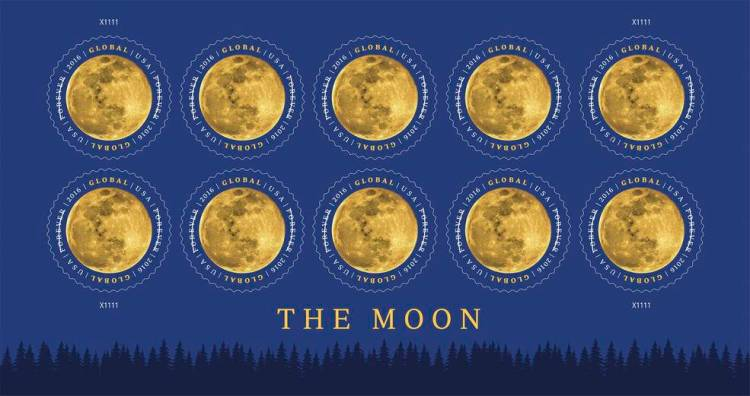 The Moon Stamps