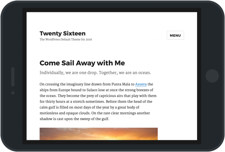 WordPress Twenty Sixteen