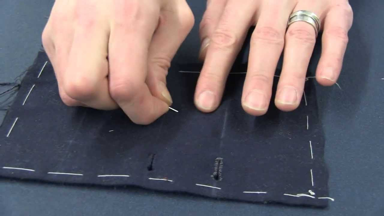 A Master Tailor Demonstrates the Proper Technique for Sewing With a Needle and Thimble