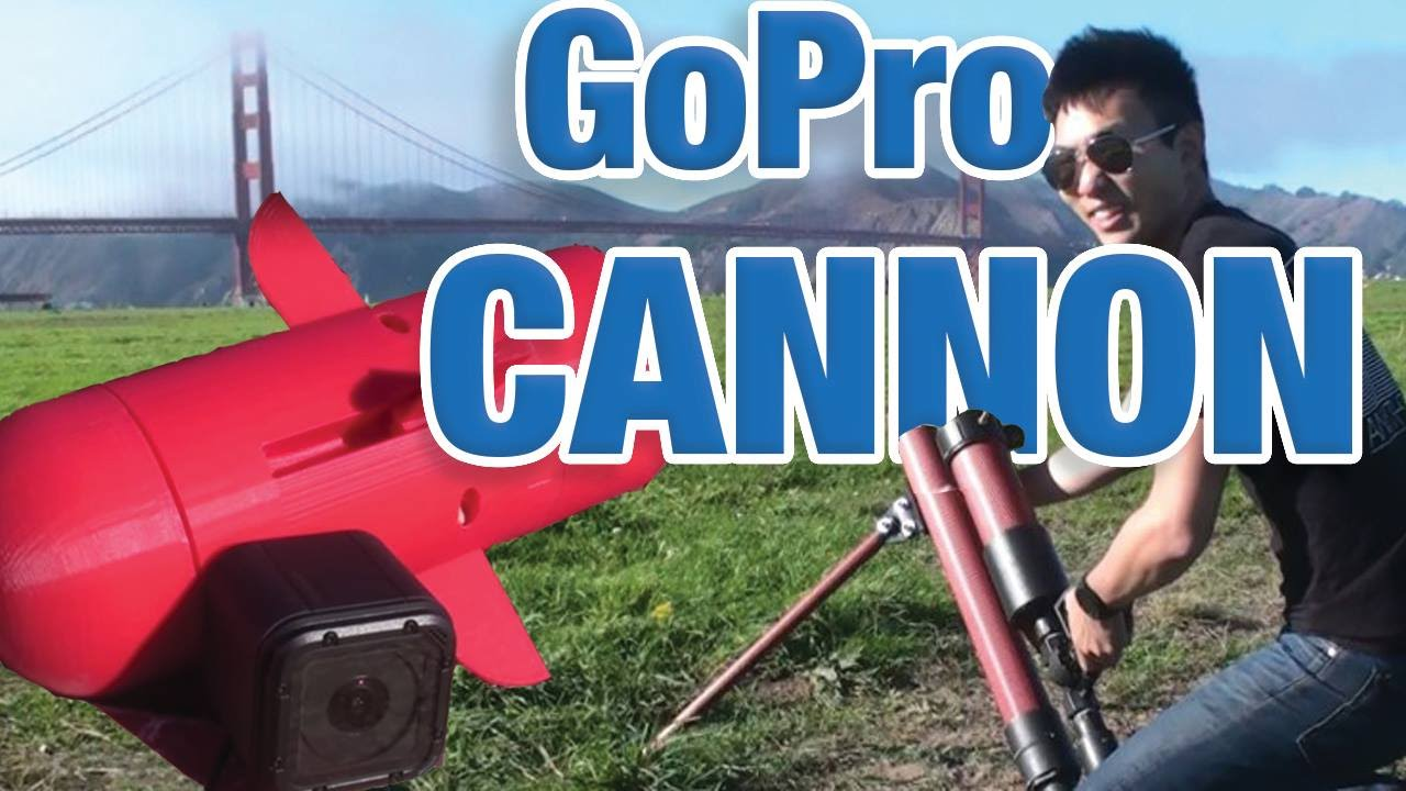 Engineers Built a Custom Air Cannon and 3D-Printed Projectile to Launch a GoPro Camera Across a Park