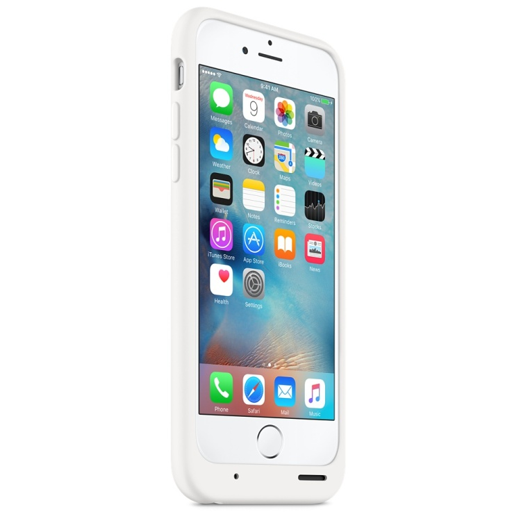 iPhone 6s Battery Case White Front