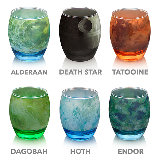 Star Wars Planetary Glassware