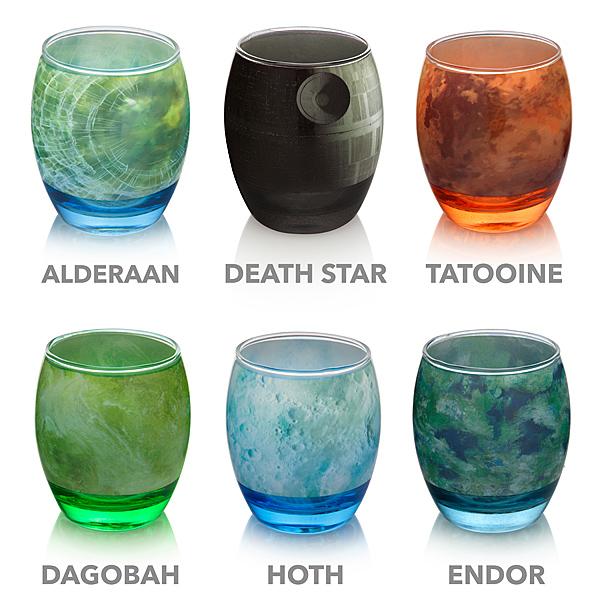 Star Wars Planetary Glassware