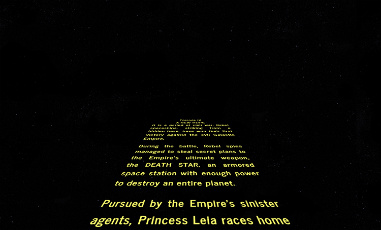 star wars intro creator a website that lets you write