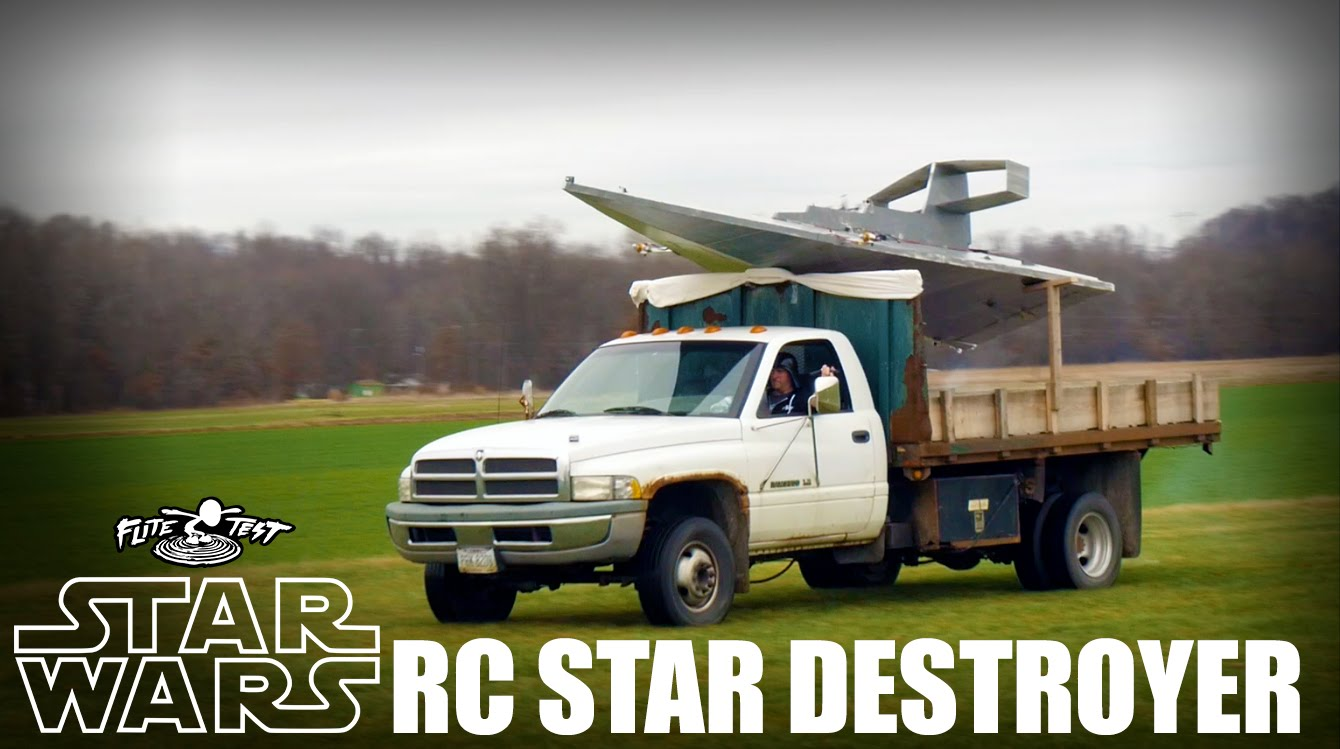 The Flite Test Pilots Fly a Giant RC Replica of a Star Wars