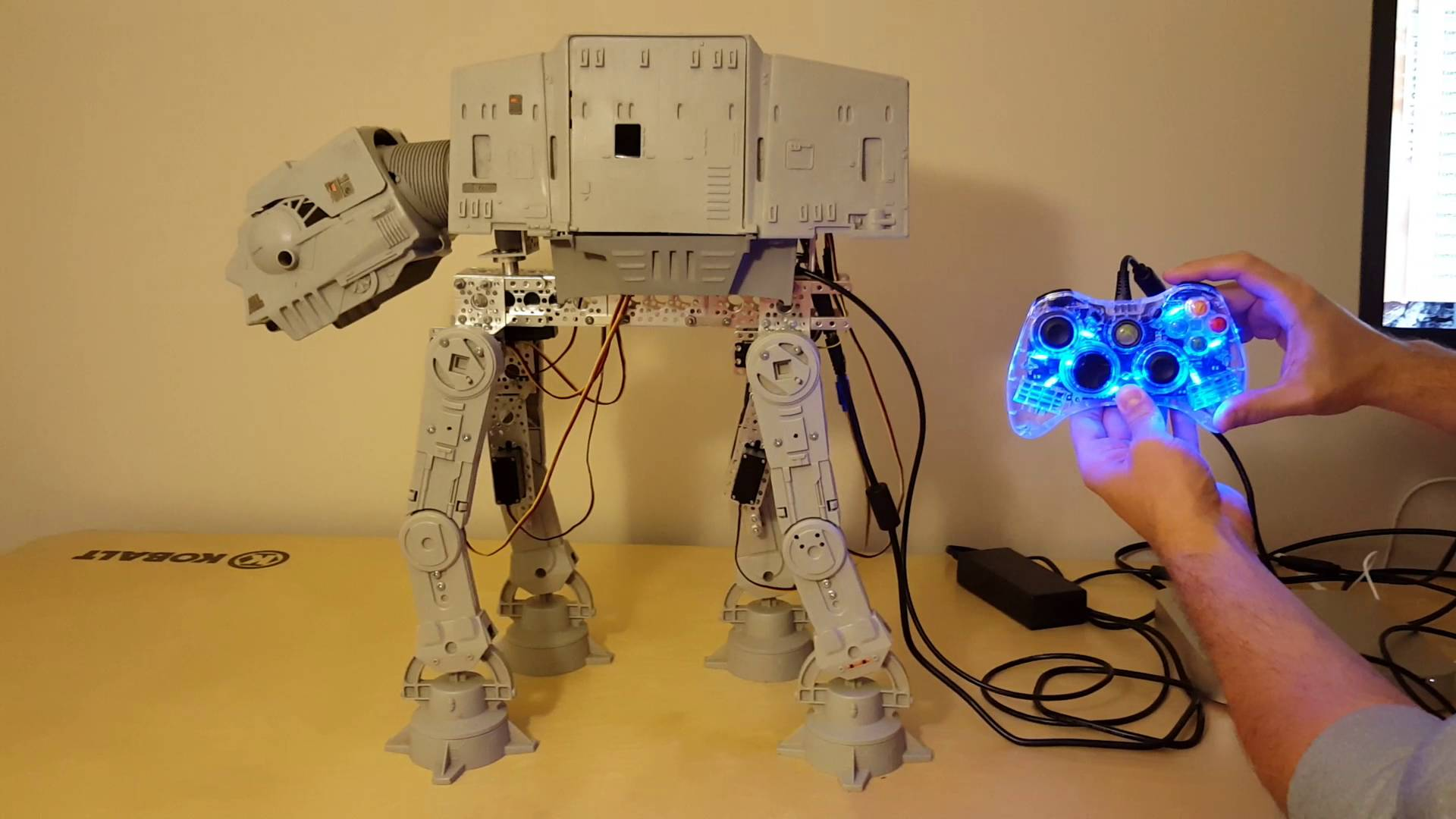 Vintage AT-AT Walker Toy Brought to Life With an Xbox 360 Controller and an Arduino Uno Board