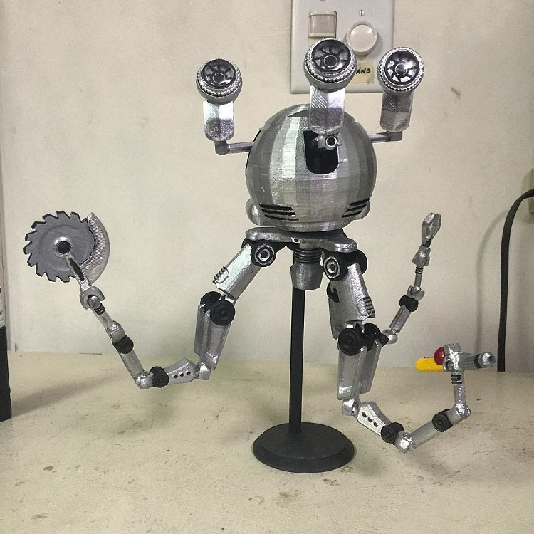 a 3d printed version of codsworth the mr handy robotic butler from fallout 4. Black Bedroom Furniture Sets. Home Design Ideas