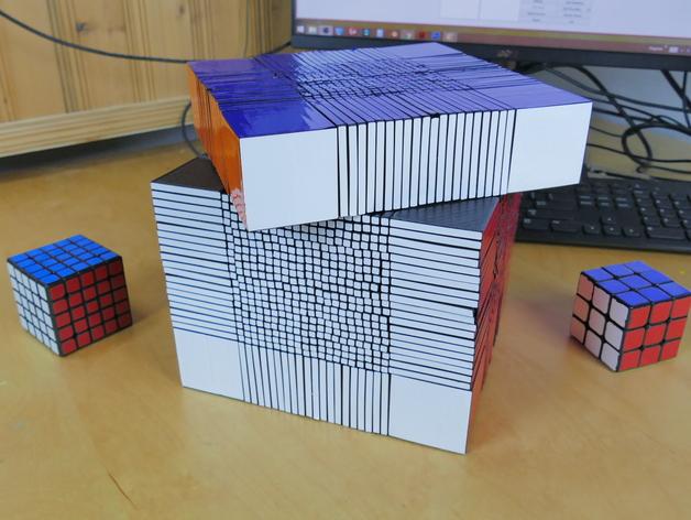 22x22 Rubik's Cube Mid turn