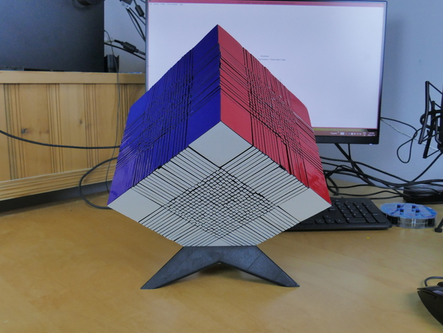 22x22 Rubik's Cube on a Stand