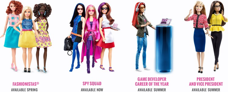 Barbie Evolution Jobs