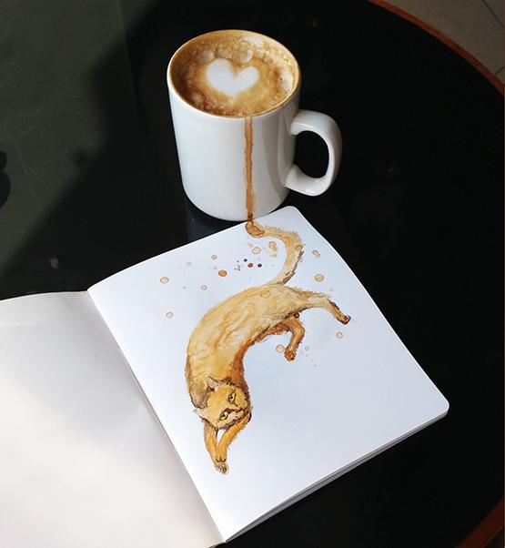 Cappuccino Cat