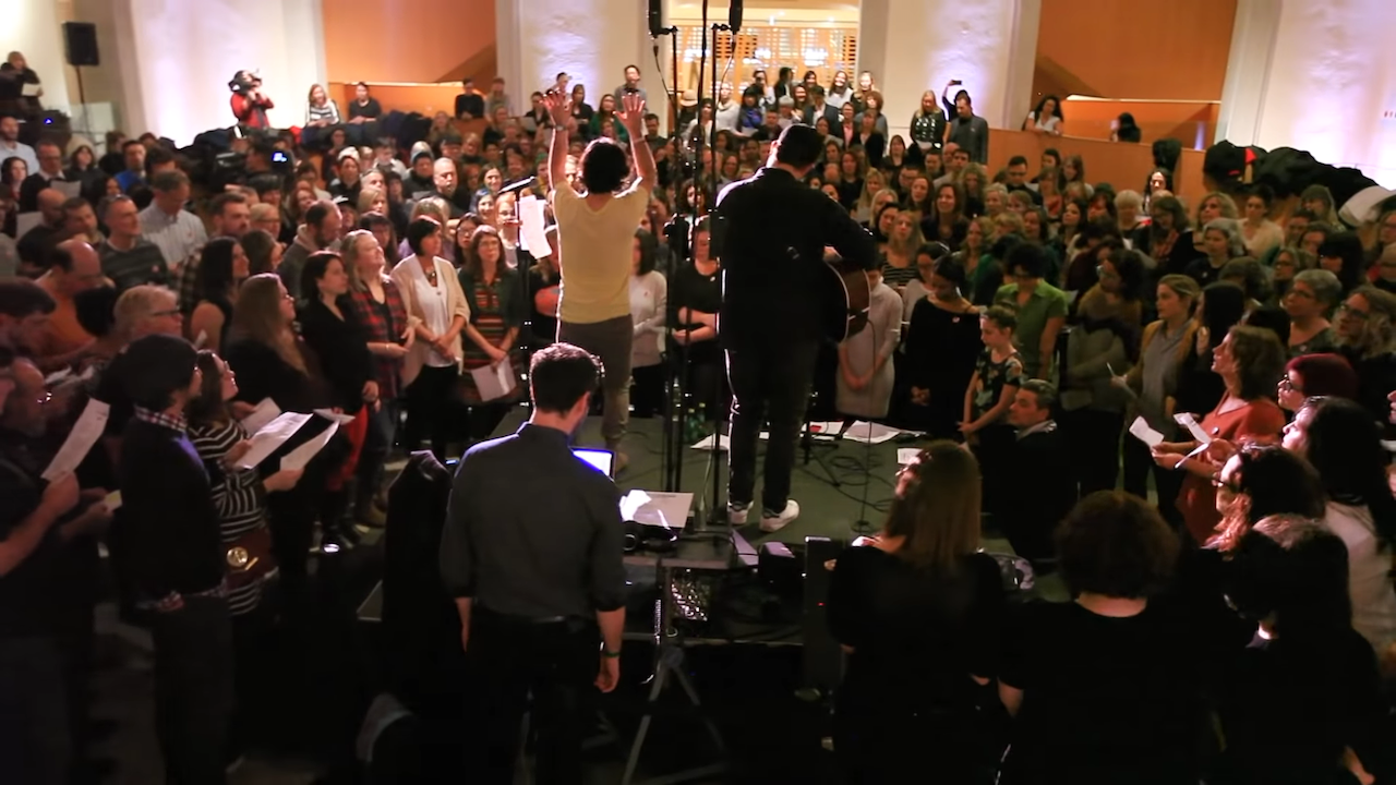A Canadian Choir Featuring Over 500 Singers Performs A Beautiful