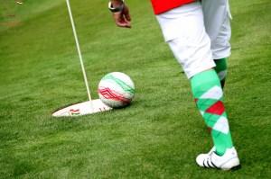 FootGolf Ball on Edge