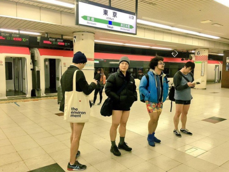 No Pants Subway Ride 2016 Japan