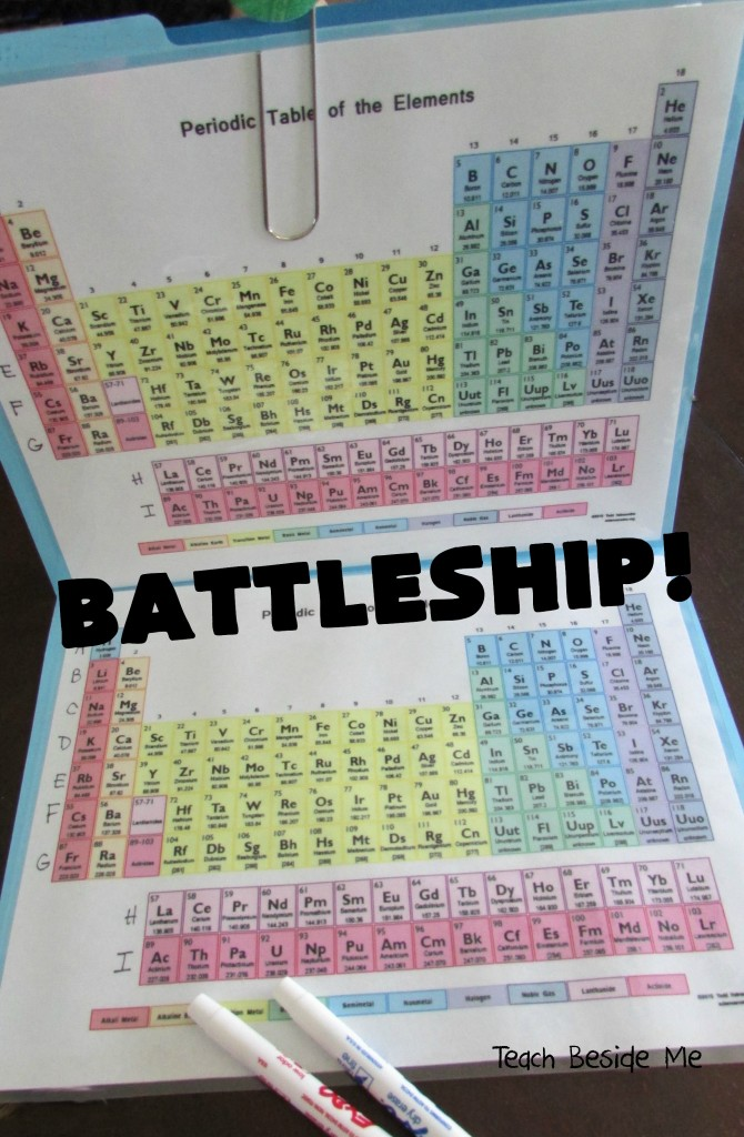 Periodic Table Battleship One Side