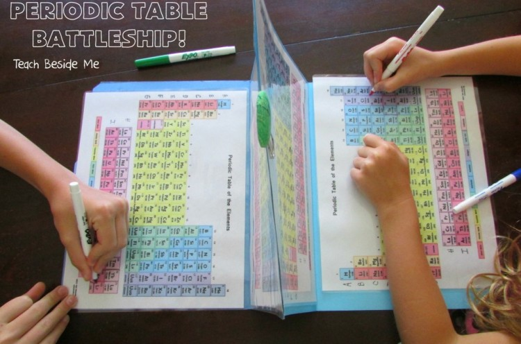 Periodic Table Battleship, A Scientific Twist on the Classic Game to Teach Kids About the Elements