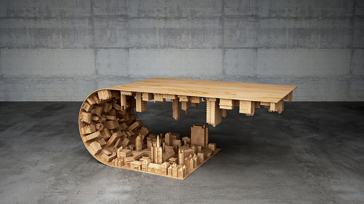 Stelios Mousarris, A Cypriot Based Furniture Designer, Has Crafted U201cWave  Cityu201d A Stunning Coffee Table That Was Heavily Inspired By The 2010 Science  Fiction ...