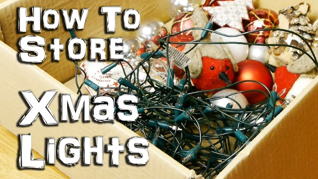 How To Store Christmas Lights So That They Don't Get Tangled Up in a Knot