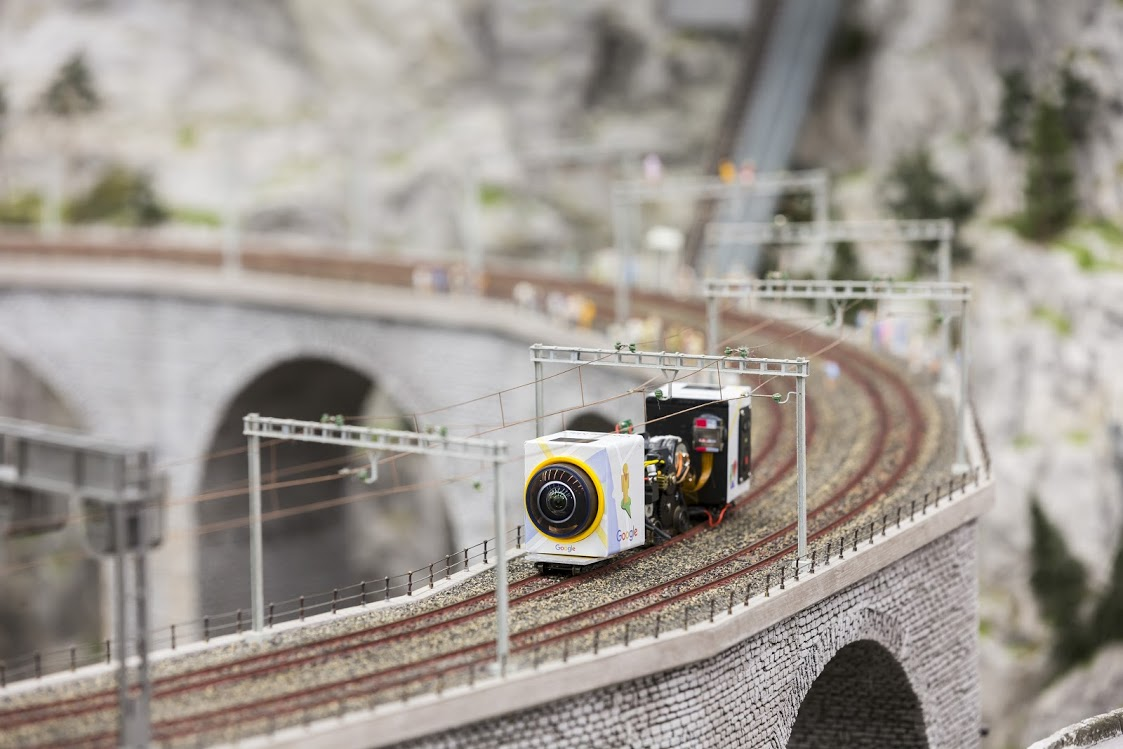 The World's Largest Model Railway Added Google Maps and Street View Using Tiny Camera Mounted on Tiny Vehicles