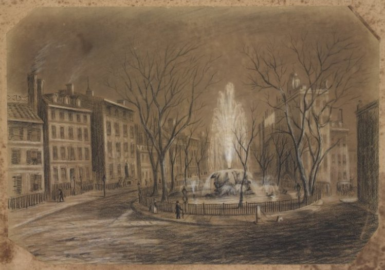Bowling Green, New York, 1845.