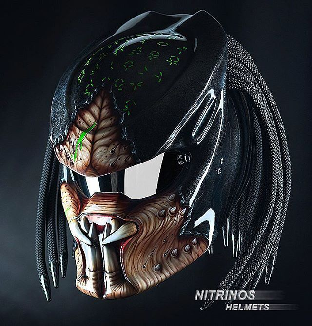 Fierce Predator Themed Motorcycle Helmets With Dreadlocks