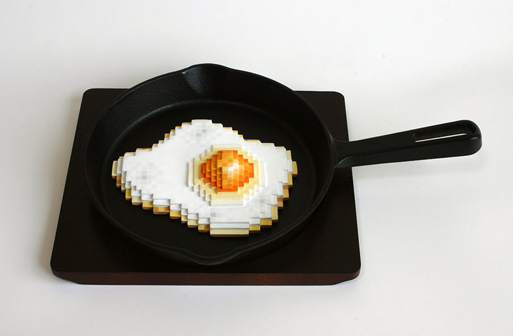 Pixelated Ceramic Sculptures
