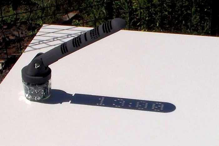 3D Printed Sundial 1300
