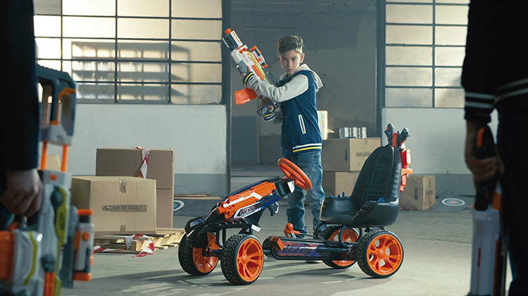 The Nerf Battle Racer By Hauck Toys Is A Pedal Powered Go