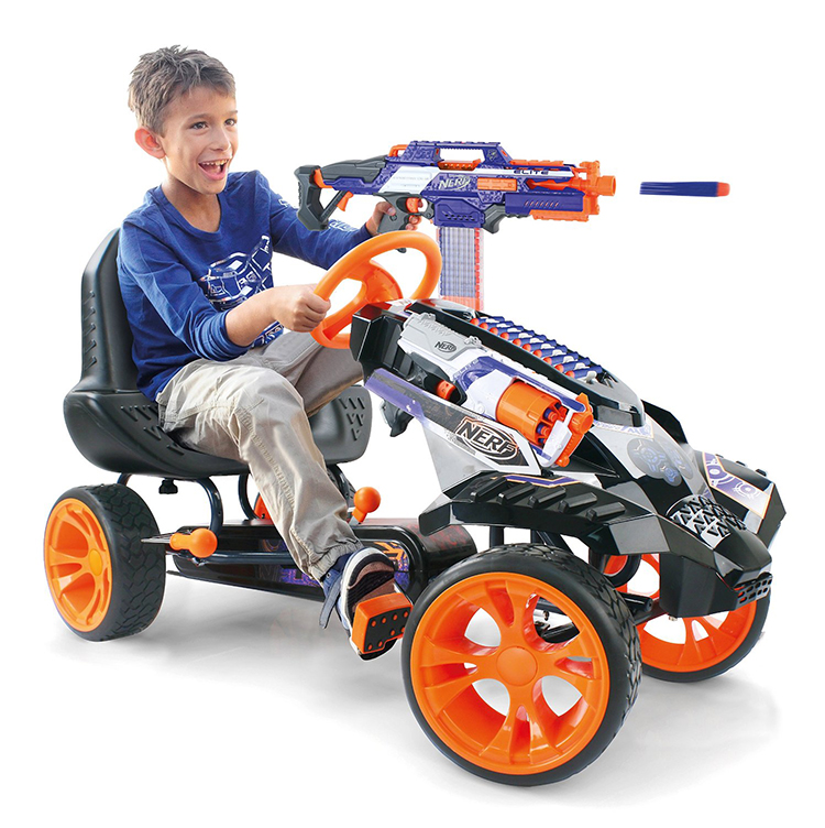 Motorized Toys For Boys : The nerf battle racer by hauck toys is a pedal powered go