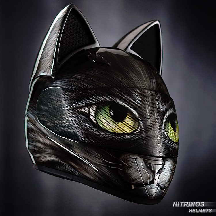 adorable cat themed motorcycle helmets with ears